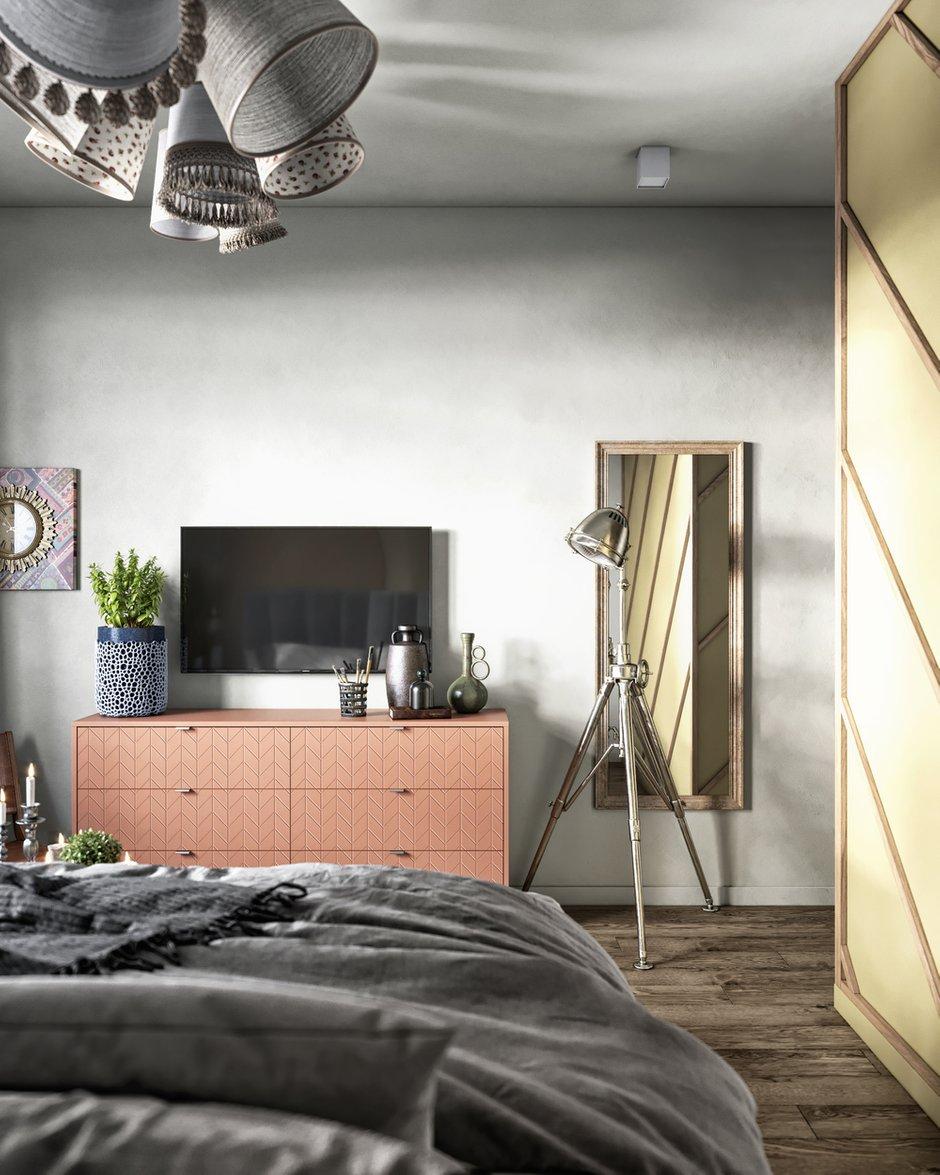 Фотография: Спальня в стиле Современный, Эклектика, Квартира, Проект недели, Санкт-Петербург, ToTaste, 3 комнаты, Более 90 метров – фото на INMYROOM