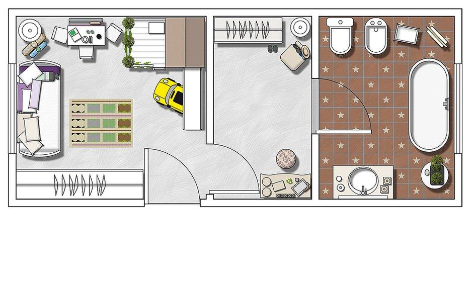 Фотография: Планировки в стиле , Детская, Интерьер комнат, Прованс, Проект недели, Шебби-шик, Винтаж – фото на INMYROOM