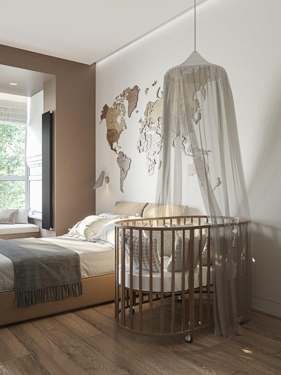 Фотография: Спальня в стиле Современный, Квартира, Проект недели, Москва, 3 комнаты, Более 90 метров, L. DesignStudio, Анна Лях – фото на INMYROOM