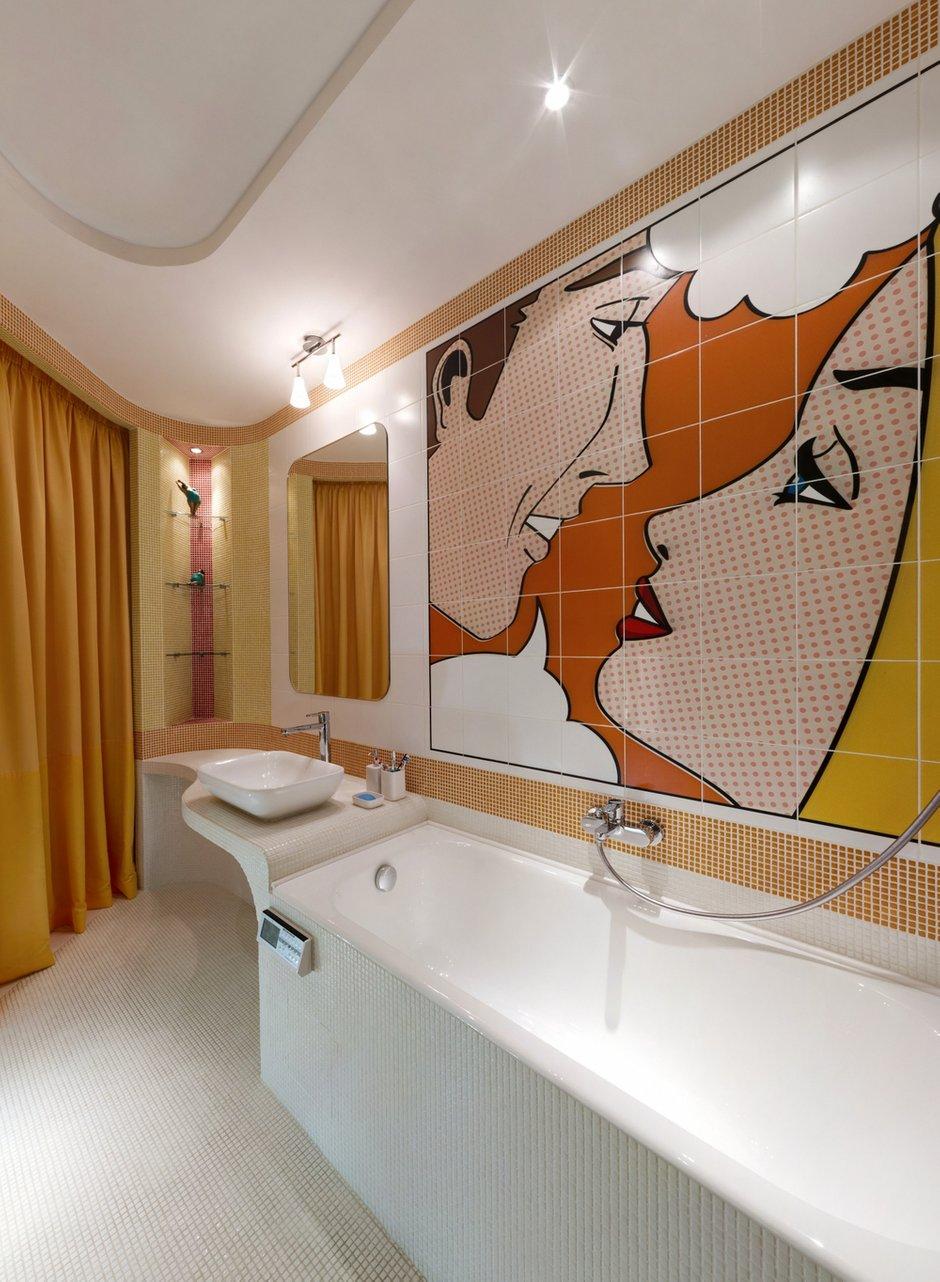 Фотография: Прочее в стиле , Ванная, Малогабаритная квартира, Интерьер комнат, Проект недели, Поп-арт – фото на InMyRoom.ru