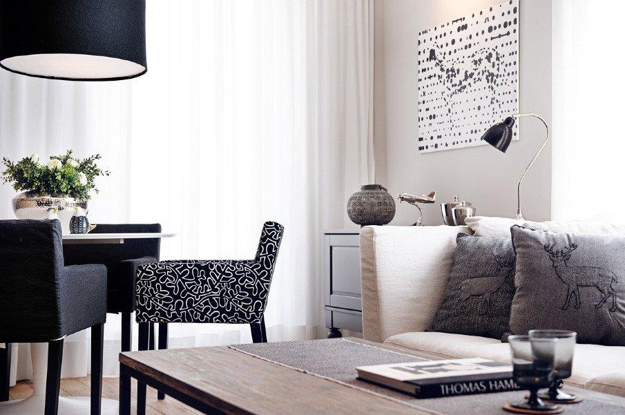 Фотография: Гостиная в стиле Скандинавский, Декор интерьера, Квартира, Дома и квартиры, Польша – фото на InMyRoom.ru