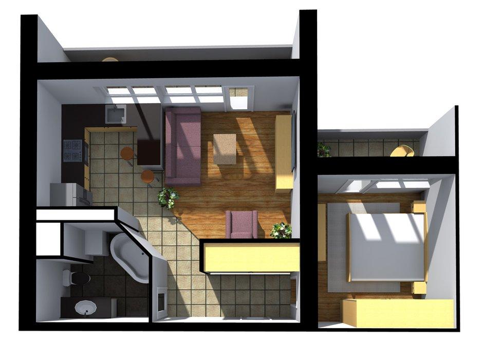 Фотография: Планировки в стиле , Квартира, Дома и квартиры, Перепланировка, И-522А – фото на INMYROOM