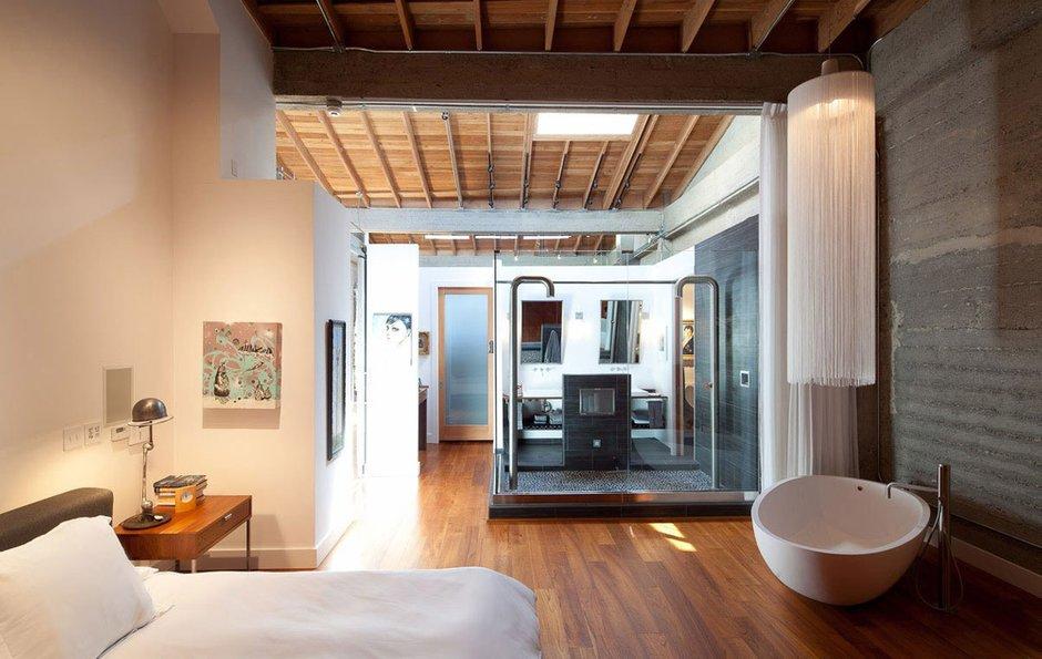 Фотография: Спальня в стиле Лофт, Дом, Дома и квартиры, Проект недели – фото на INMYROOM