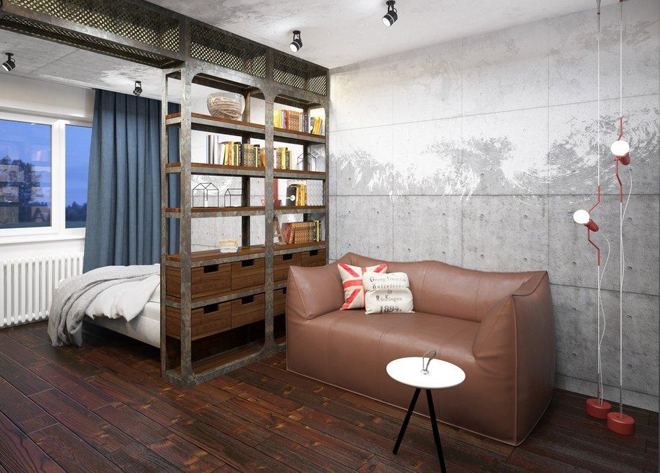 Фотография: Гостиная в стиле Лофт, Проект недели, П-3М, GM-Interior – фото на INMYROOM