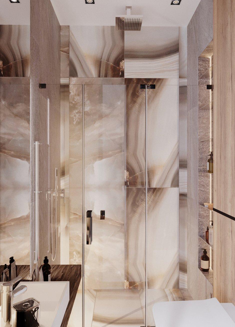 Фотография: Ванная в стиле Современный, Квартира, Проект недели, Samsung, Монолитный дом, 3 комнаты, 60-90 метров, ЖК Headliner, Леся Печенкина – фото на INMYROOM