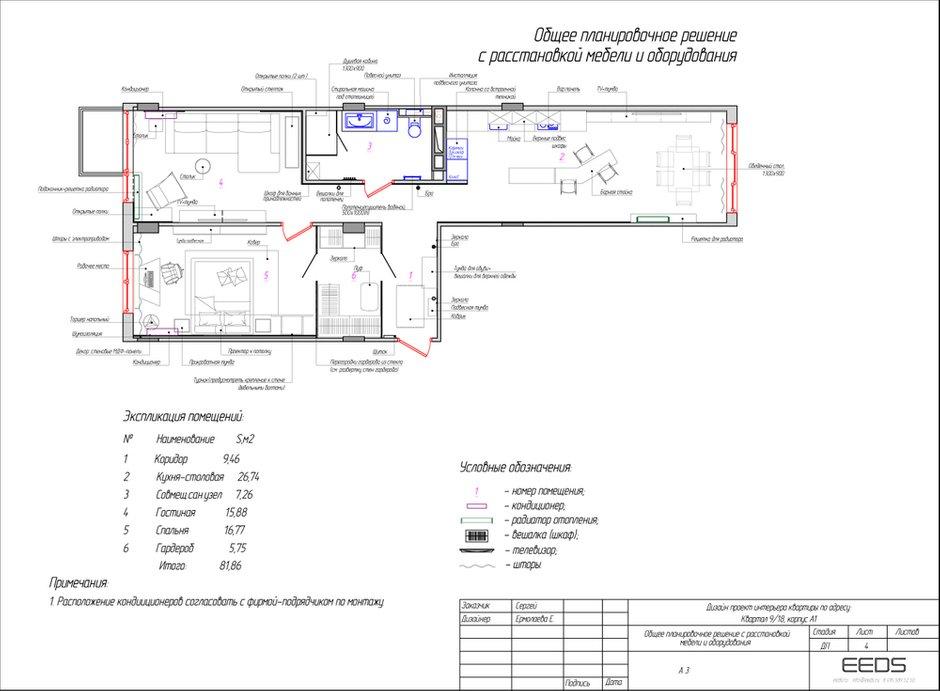 Фотография: Планировки в стиле , Квартира, Проект недели, Евгения Ермолаева, EEDS, 2 комнаты, 60-90 метров, Монолитно-кирпичный, ЖК Квартал 9/18 – фото на INMYROOM