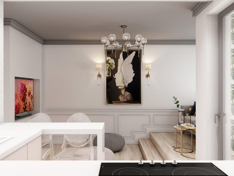 Фотография: Кухня и столовая в стиле Современный, Малогабаритная квартира, Квартира, Студия, Проект недели, Санкт-Петербург, Монолитный дом, до 40 метров, Яна Грошева, Диана Бгданова – фото на INMYROOM