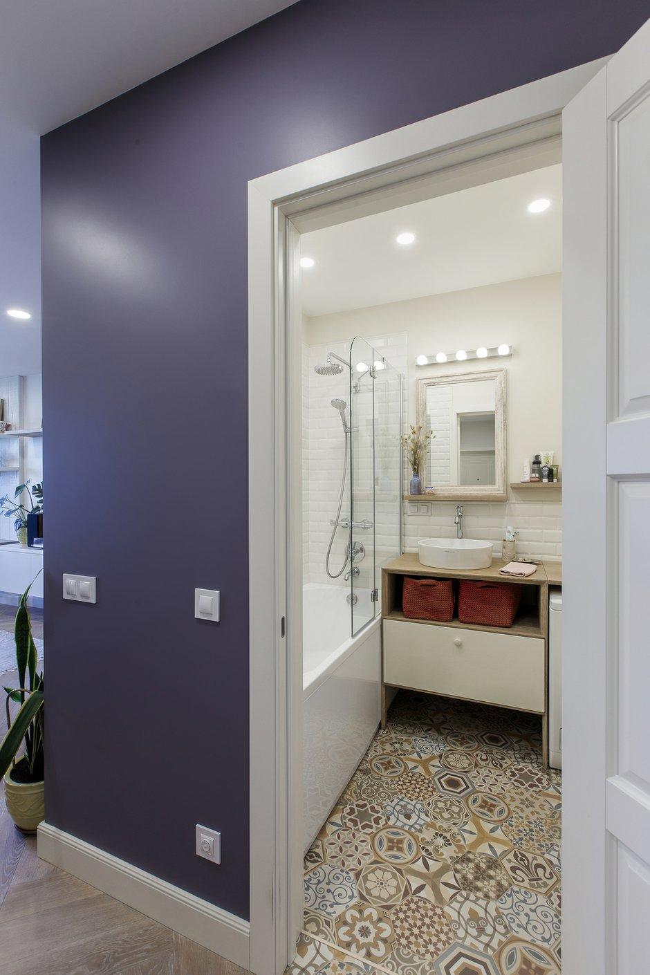 Фотография: Ванная в стиле Скандинавский, Квартира, Белый, Проект недели, Евгения Лыкасова – фото на INMYROOM