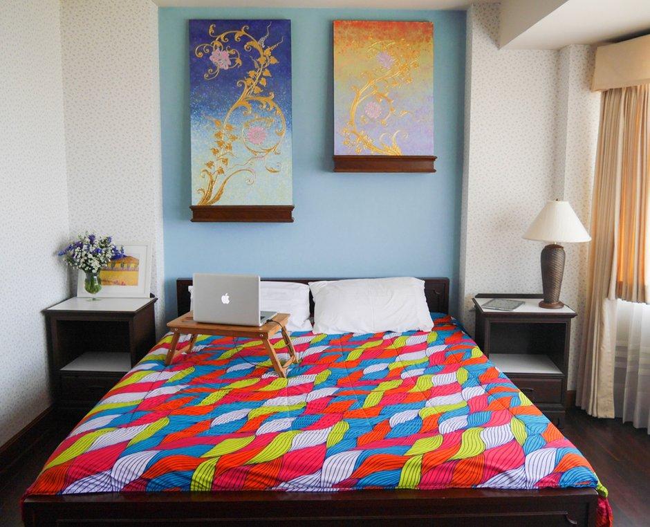Фотография: Спальня в стиле Восточный, Квартира, Дома и квартиры – фото на INMYROOM