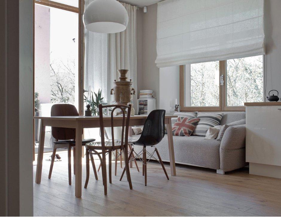 Фотография: Кухня и столовая в стиле Скандинавский, Декор интерьера, Квартира, Декор, Белый, Бежевый, Серый – фото на INMYROOM