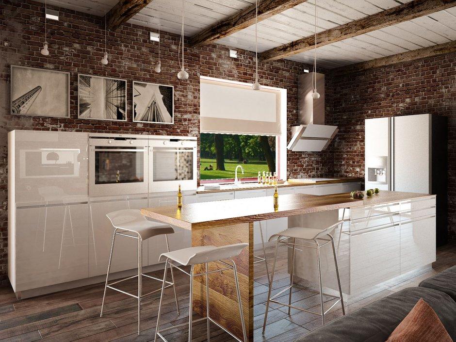 Фотография: Кухня и столовая в стиле Лофт, Квартира, Дом, Дома и квартиры, Проект недели – фото на InMyRoom.ru