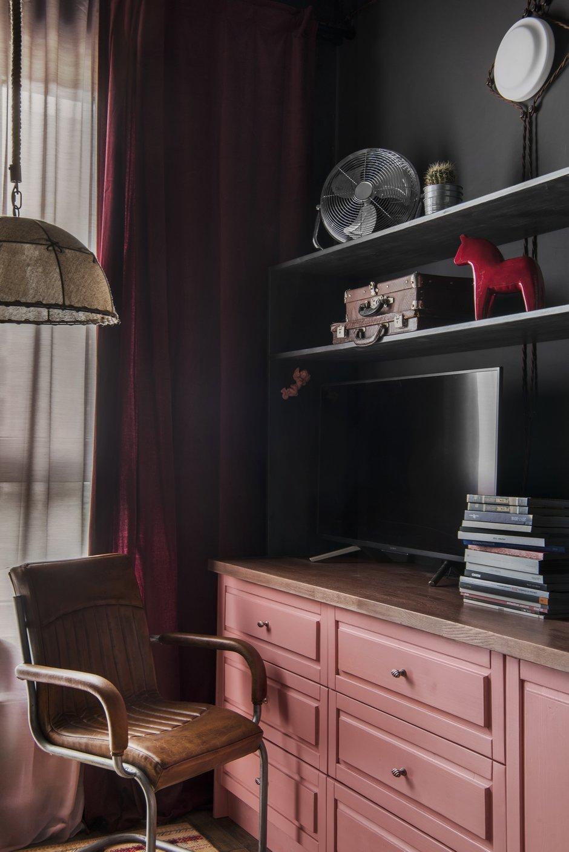 Фотография: Гостиная в стиле Эклектика, Квартира, Проект недели, Москва, 1 комната, 2 комнаты, до 40 метров, 40-60 метров, Наталия Турченко – фото на INMYROOM