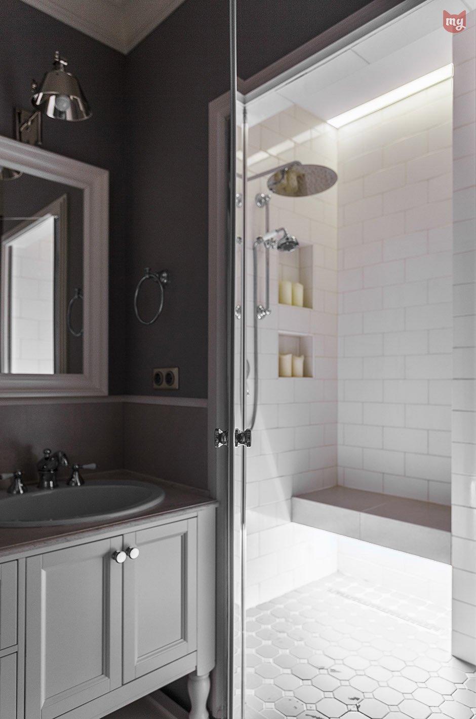 Фотография: Ванная в стиле Прованс и Кантри, Квартира, Проект недели, Наталья Сорокина – фото на INMYROOM