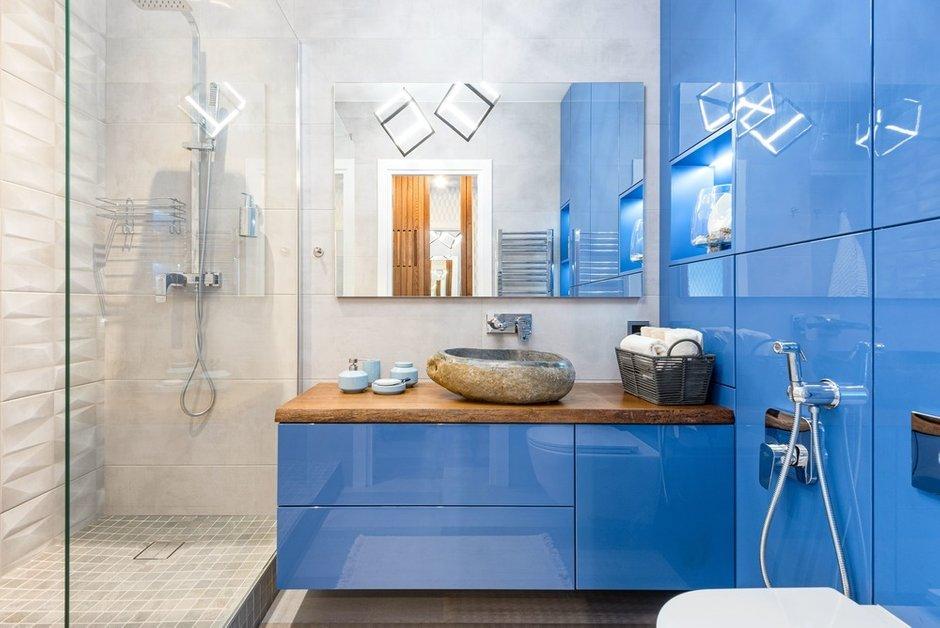 Фотография: Ванная в стиле Современный, Эко, Квартира, Проект недели, 2 комнаты, 40-60 метров, Светлогорск, Виктория Лазарева – фото на INMYROOM