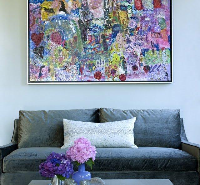 Фотография: Гостиная в стиле Современный, Декор интерьера, Дизайн интерьера, Цвет в интерьере, Серый – фото на INMYROOM