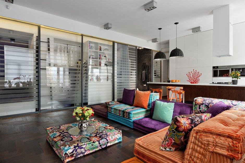 Фотография: Гостиная в стиле Прованс и Кантри, Восточный, Малогабаритная квартира, Квартира, Дома и квартиры, Перепланировка – фото на InMyRoom.ru