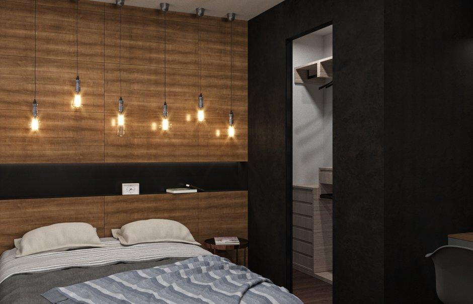 Фотография: Спальня в стиле Современный, Лофт, Квартира, Проект недели, Химки, Панельный дом, 1 комната, 40-60 метров, Андрей Рыбаков – фото на INMYROOM