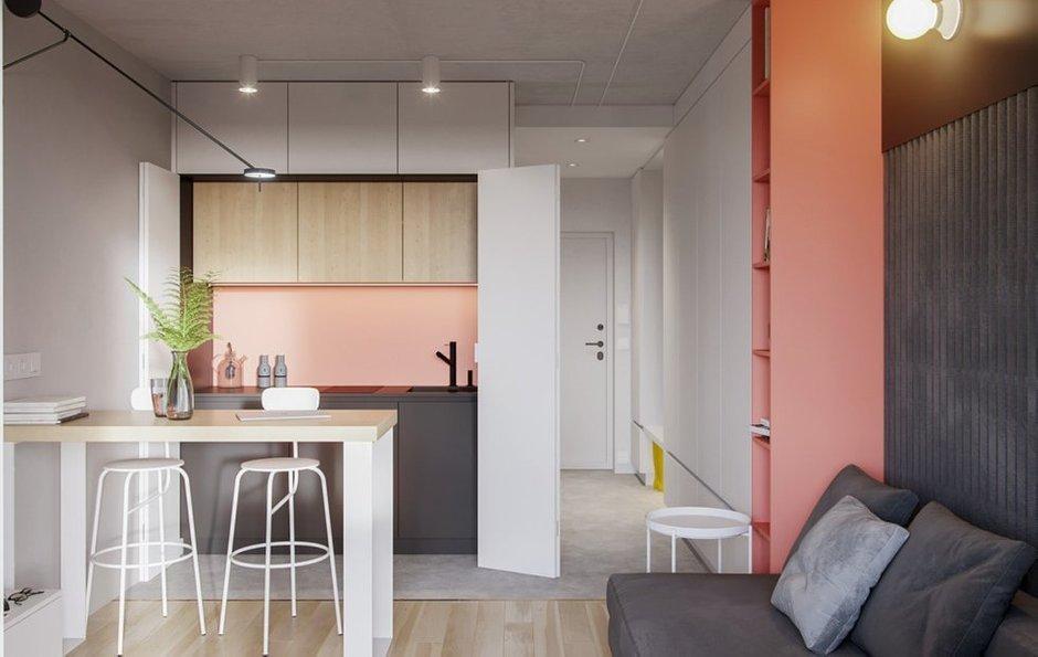 Фотография: Кухня и столовая в стиле Минимализм, Квартира, Советы, декор стен, малогабаритка, Loggia – фото на INMYROOM