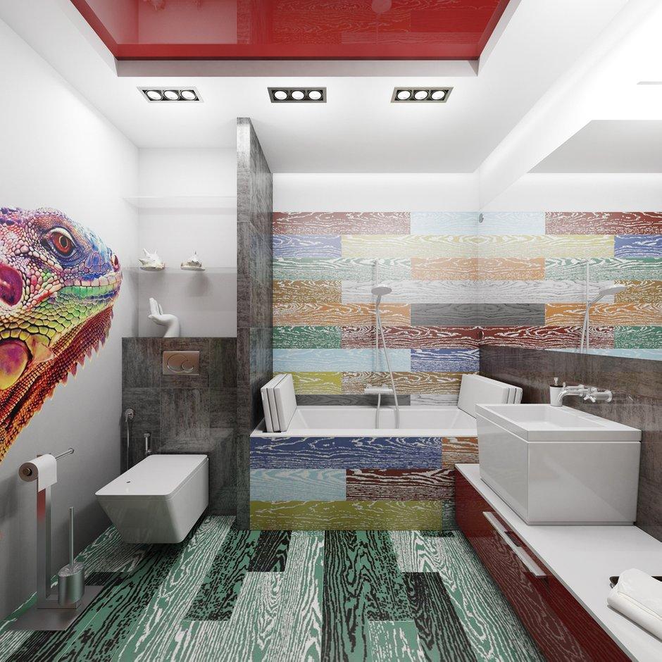 Фотография: Ванная в стиле Хай-тек, Интерьер комнат, Проект недели – фото на INMYROOM