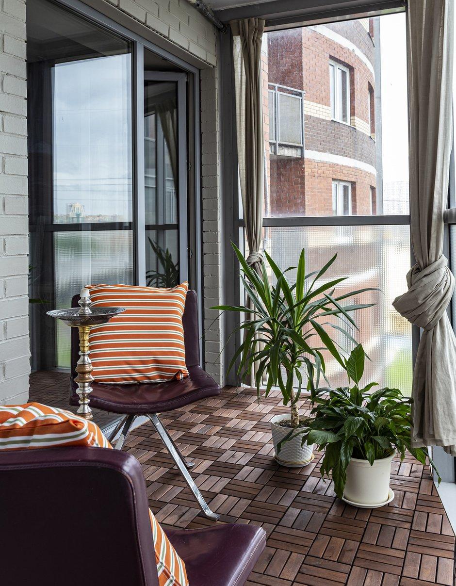 Фотография: Балкон в стиле Современный, Квартира, Проект недели, Санкт-Петербург, 3 комнаты, 60-90 метров, Анастасия Заркуа – фото на INMYROOM