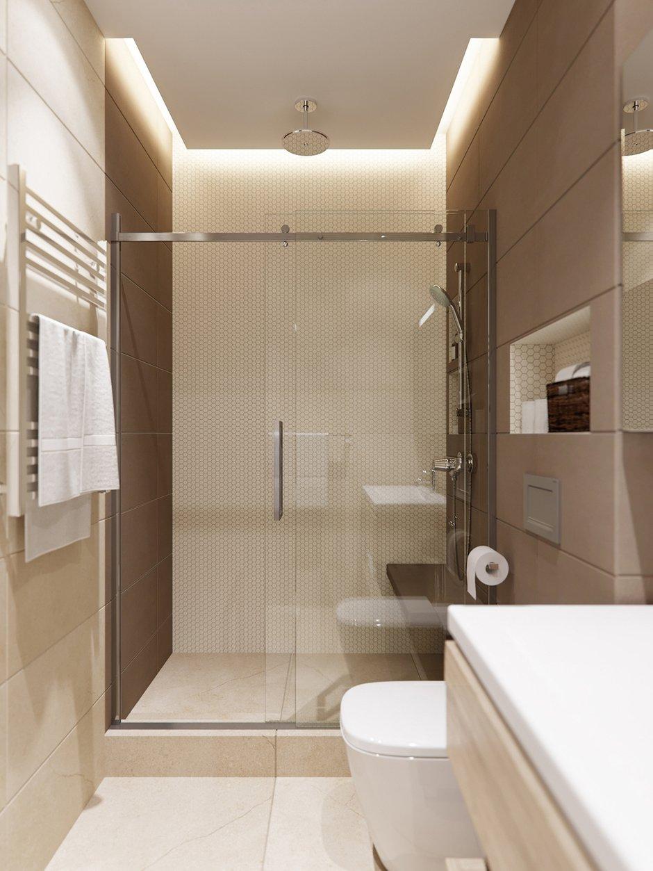 Фотография: Ванная в стиле Минимализм, Квартира, Проект недели, Москва, 2 комнаты, 40-60 метров, Ксения Коновалова, ЖК «Опалиха О3» – фото на INMYROOM