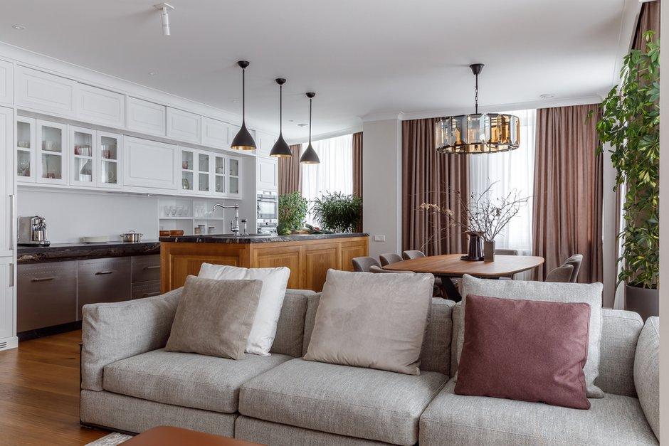 Фотография: Кухня и столовая в стиле Современный, Эко, Квартира, Проект недели, Москва, Архитектурная студия «ЧАДО», 4 и больше, Более 90 метров – фото на INMYROOM