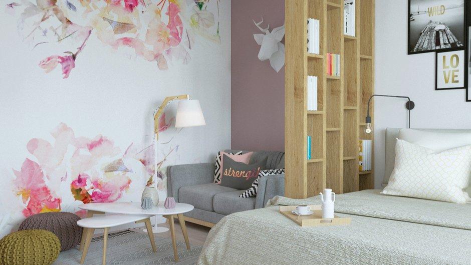 Фотография:  в стиле , Квартира, Проект недели, 1 комната, 40-60 метров, Монолитно-кирпичный, ЖК «Любимое Домодедово», Домодедово – фото на INMYROOM