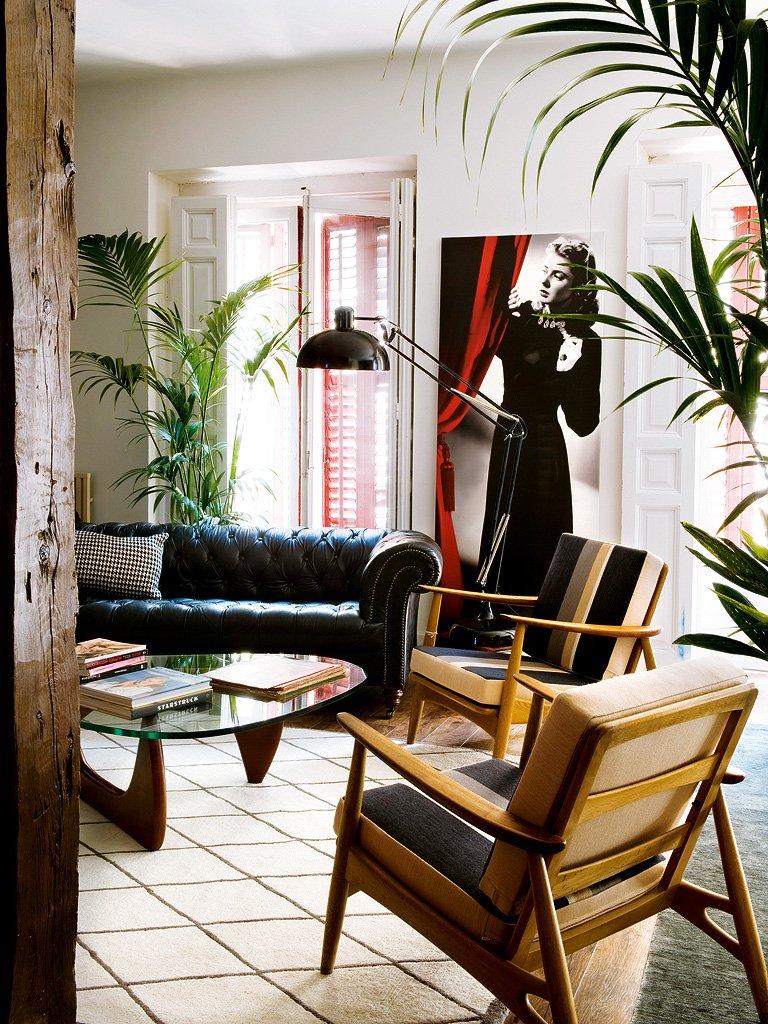 Фотография: Гостиная в стиле Лофт, Декор интерьера, Интерьер комнат, Проект недели, Стена, Мадрид – фото на INMYROOM