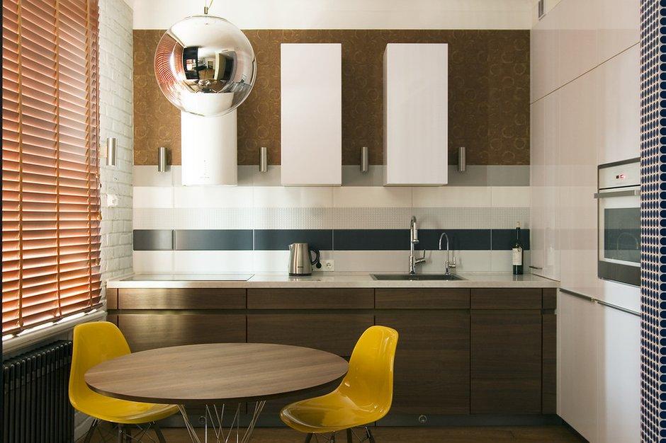 Фотография: Кухня и столовая в стиле Современный, Лофт, Малогабаритная квартира, Квартира, Дома и квартиры, Проект недели – фото на INMYROOM
