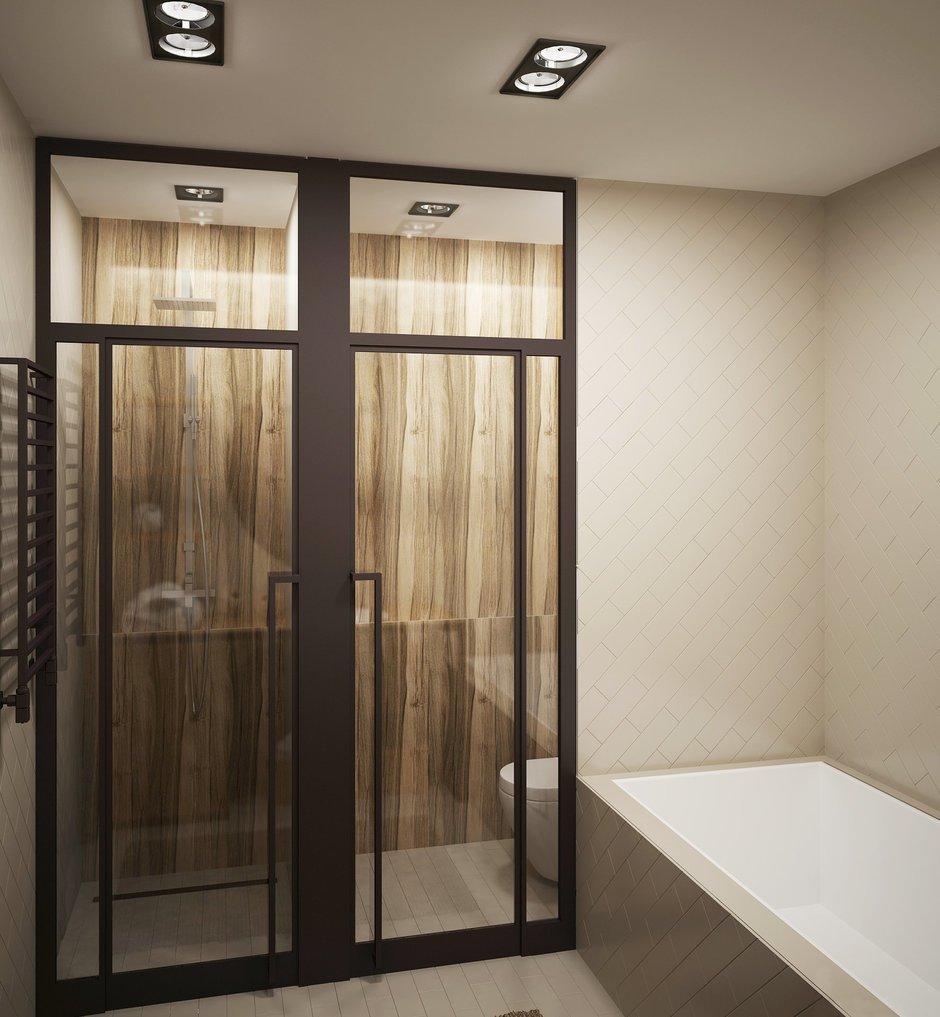 Фотография: Ванная в стиле Современный, Лофт, Квартира, Планировки, Проект недели, Сталинка – фото на INMYROOM