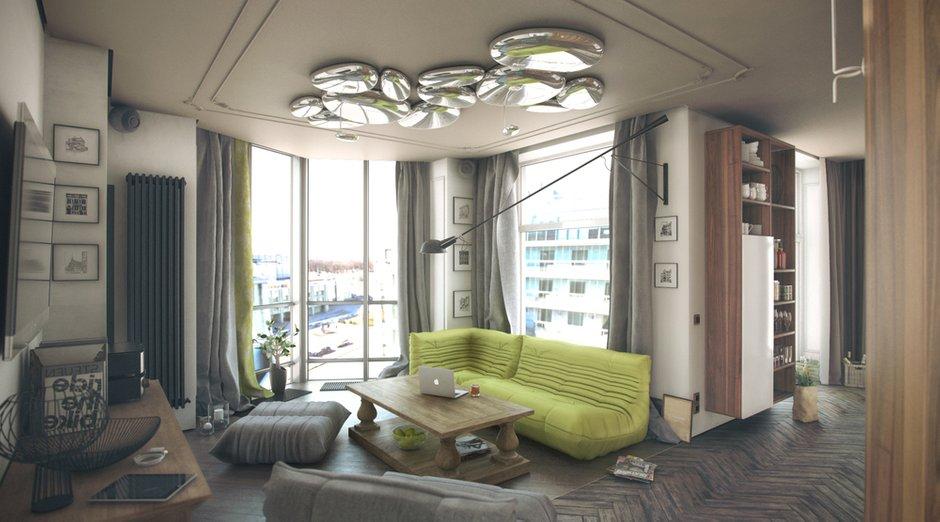 Фотография: Гостиная в стиле Лофт, Эклектика, Квартира, Дома и квартиры, IKEA – фото на INMYROOM
