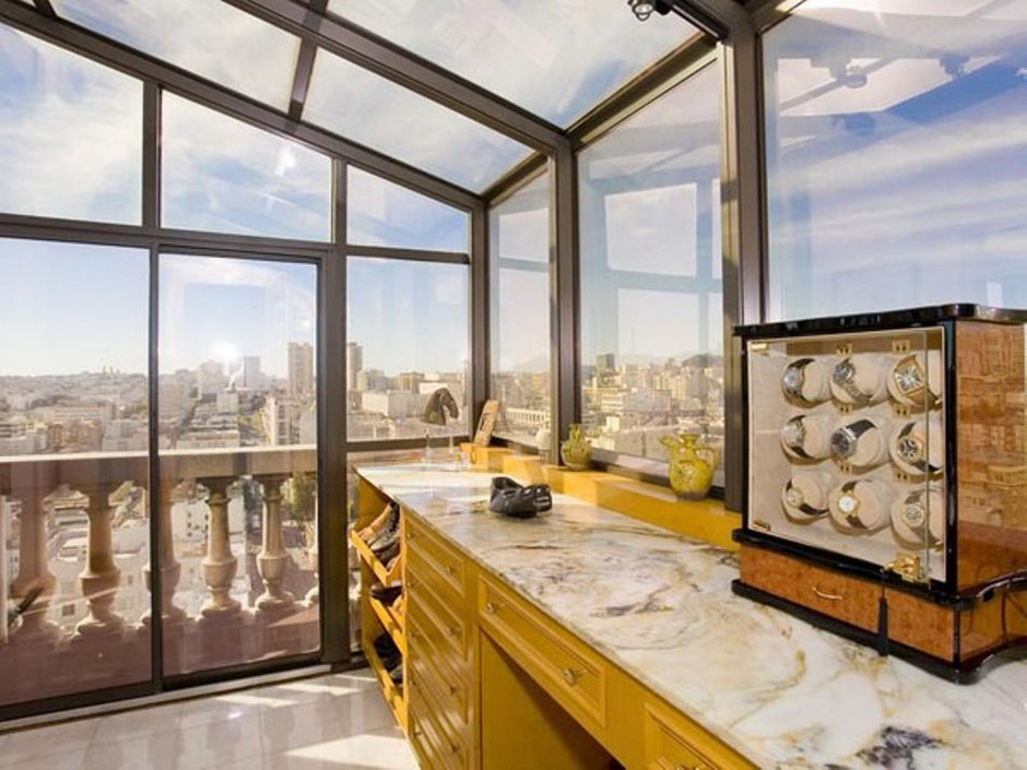 Фотография: Кухня и столовая в стиле Современный, Квартира, Терраса, Дома и квартиры, Камин, Пентхаус, Ар-деко – фото на INMYROOM