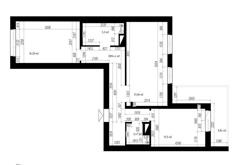Фотография: Планировки в стиле , Скандинавский, Квартира, Проект недели, Санкт-Петербург, 3 комнаты, 60-90 метров, Светлана Куксова – фото на INMYROOM