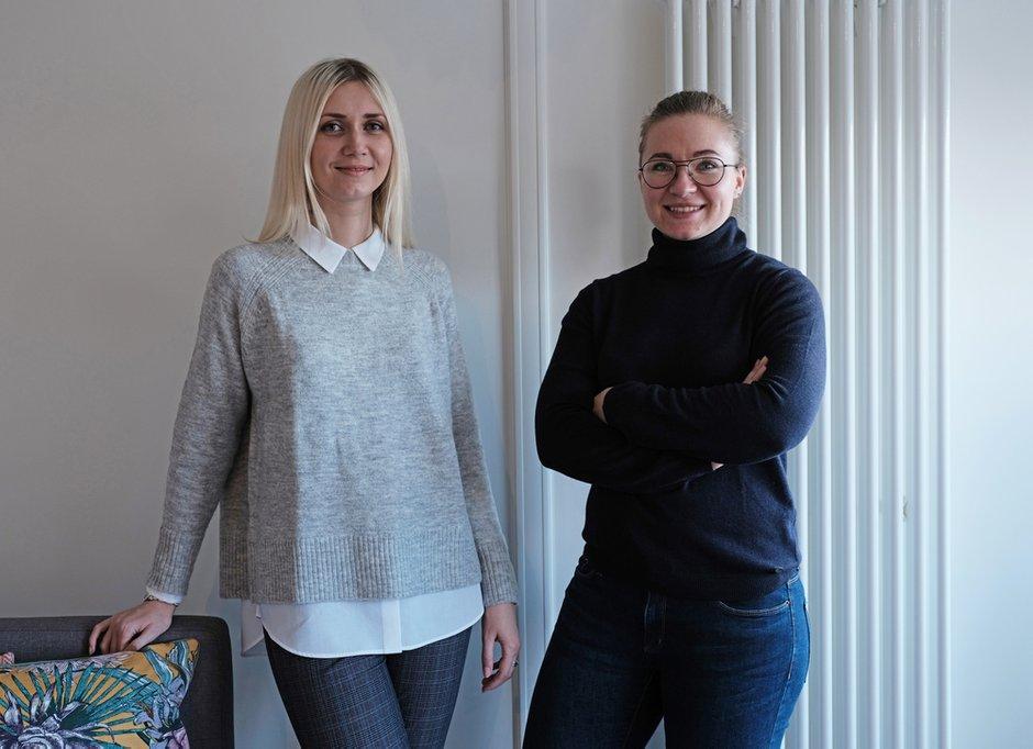 Дизайнер Ольга Рудакова (слева) и архитектор Ольга Рудакова (справа)