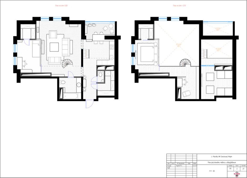 Фотография: Планировки в стиле , Квартира, Проект недели, Москва, ToTaste Studio, Монолитный дом, 4 и больше, 60-90 метров, ЖК «Соколиный форт» – фото на INMYROOM