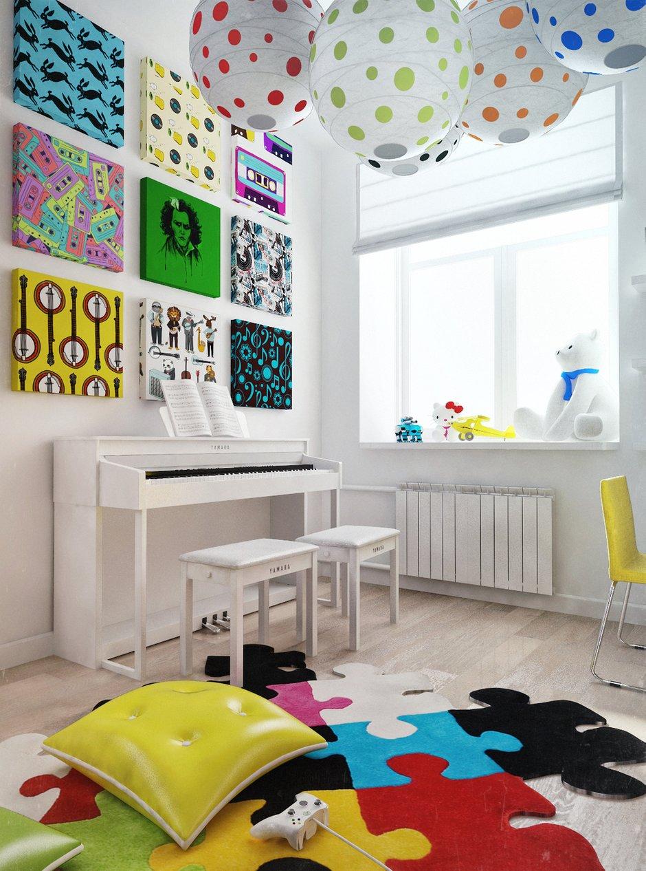 Фотография: Детская в стиле Современный, Декор интерьера, Квартира, Normann Copenhagen, Дома и квартиры, IKEA, Проект недели, Ligne Roset, B&B Italia, Качели, Сталинка – фото на INMYROOM