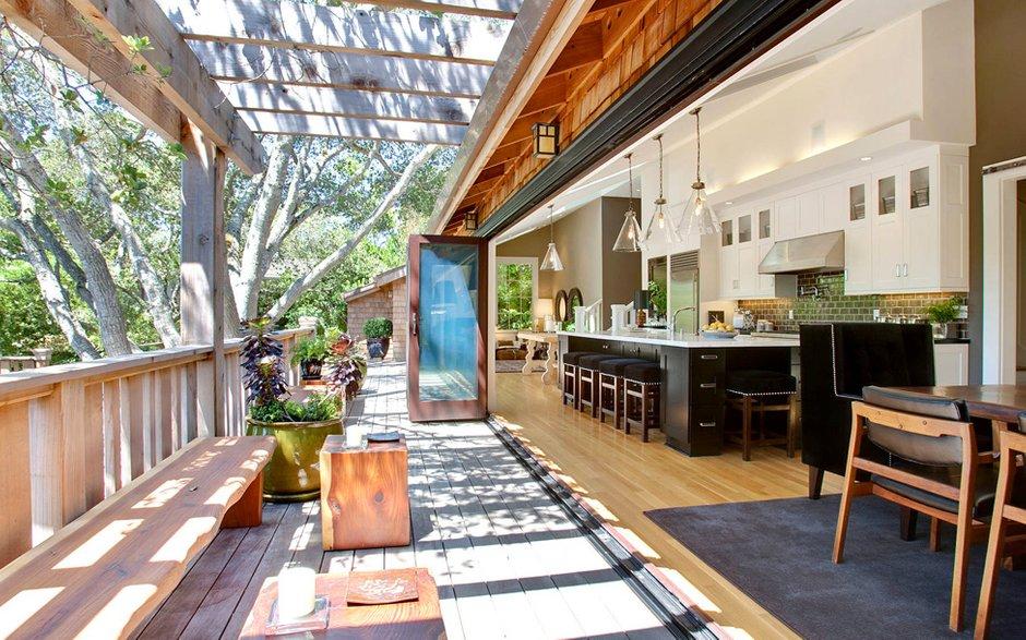 Фотография: Балкон, Терраса в стиле Современный, Дом, Дома и квартиры, Бассейн, Калифорния – фото на INMYROOM