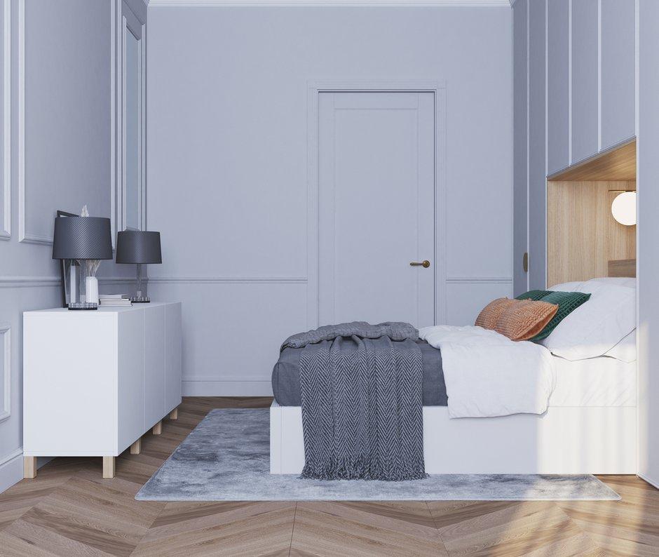Фотография: Спальня в стиле Современный, Квартира, Проект недели, Санкт-Петербург, 2 комнаты, 40-60 метров, Bobo.space – фото на INMYROOM