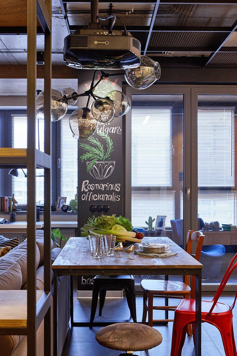 Фотография: Кухня и столовая в стиле Лофт, Квартира, Проект недели, Москва, Ольга Райская, Монолитный дом, 2 комнаты, 60-90 метров – фото на InMyRoom.ru