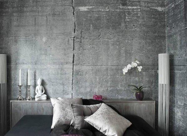 Фотография: Спальня в стиле Лофт, Декор интерьера, Дизайн интерьера, Цвет в интерьере, Серый – фото на INMYROOM