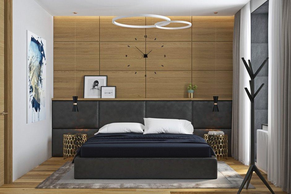 Фотография: Спальня в стиле Современный, Квартира, Проект недели, Москва, Geometrium, 3 комнаты, Более 90 метров, Монолитно-кирпичный, ЖК «Александр» – фото на INMYROOM