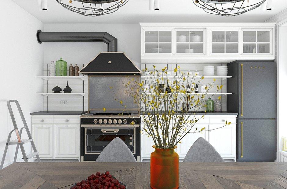 Фотография: Кухня и столовая в стиле Лофт, Декор интерьера, Квартира, BoConcept, Eichholtz, Дома и квартиры, IKEA, Проект недели – фото на InMyRoom.ru