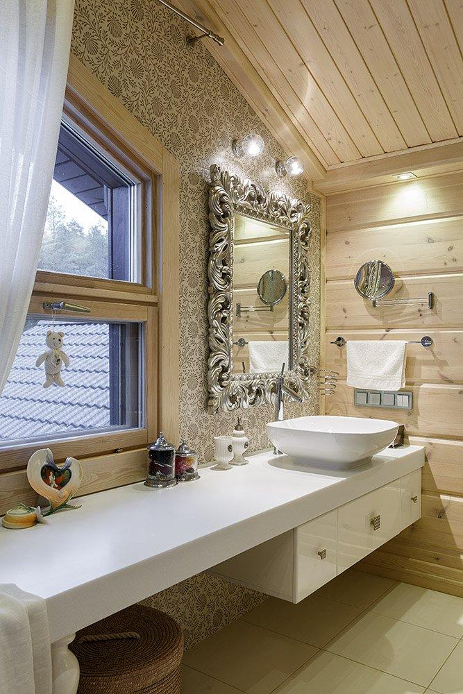 Фотография: Ванная в стиле , Классический, Дом, Дома и квартиры, Проект недели, Дача – фото на INMYROOM