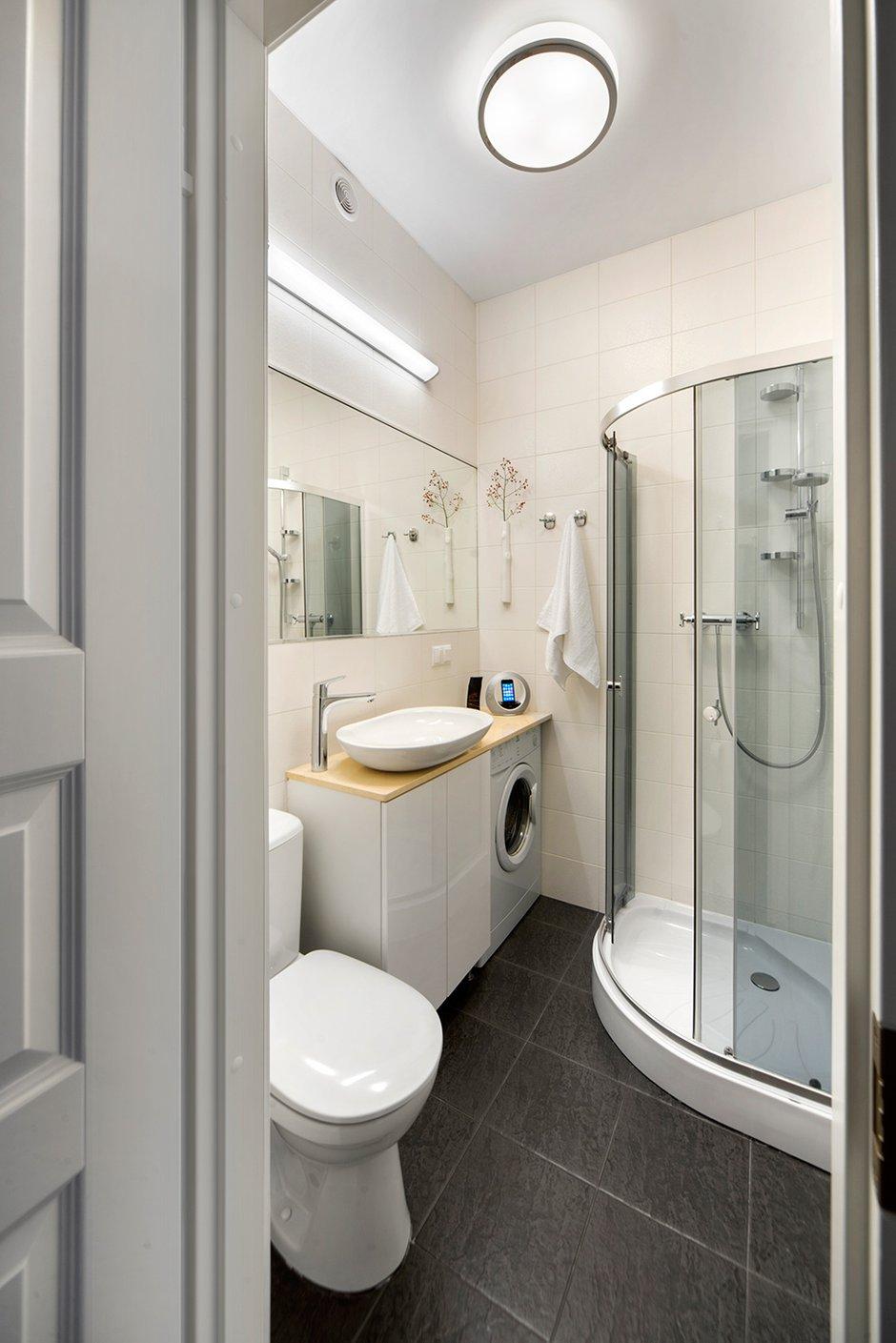 Фотография: Ванная в стиле Современный, Малогабаритная квартира, Квартира, Дома и квартиры, IKEA, Проект недели, Хрущевка – фото на INMYROOM