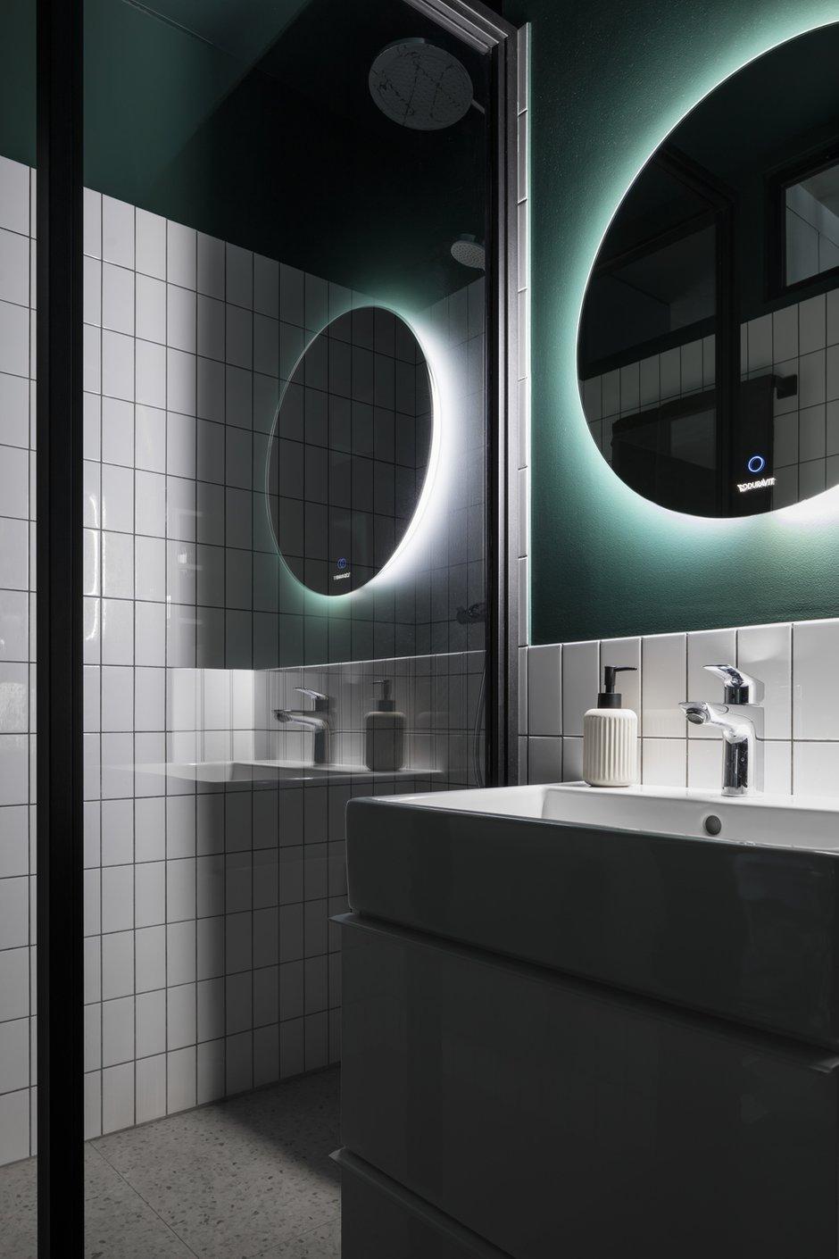 Фотография: Ванная в стиле Лофт, Квартира, Студия, Проект недели, Москва, 1 комната, до 40 метров, 40-60 метров, Влада Загайнова – фото на INMYROOM