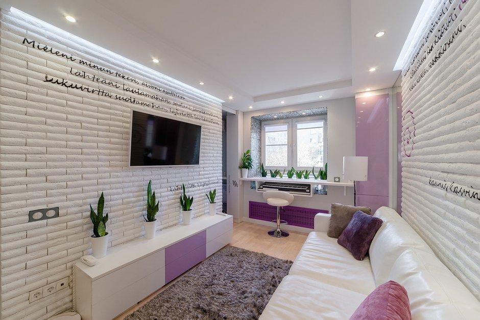 Фотография: Гостиная в стиле Современный, Малогабаритная квартира, Квартира, Дома и квартиры – фото на INMYROOM