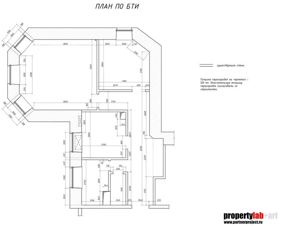 Фотография: Планировки в стиле , Квартира, Проект недели, Москва, Зеленый, Кирпичный дом, 2 комнаты, 40-60 метров, PROPERTY LAB+ART – фото на INMYROOM