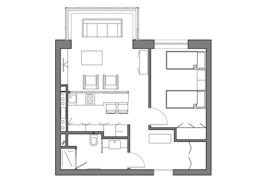 Фотография: Планировки в стиле , Малогабаритная квартира, Квартира, Дома и квартиры, Проект недели – фото на INMYROOM