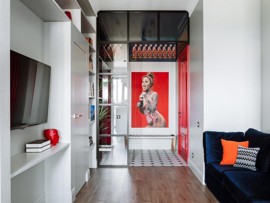 Фотография: Гостиная в стиле Современный, Квартира, Проект недели, Московская область, 1 комната, 40-60 метров, Анна Моджаро, ПРЕМИЯ INMYROOM – фото на INMYROOM