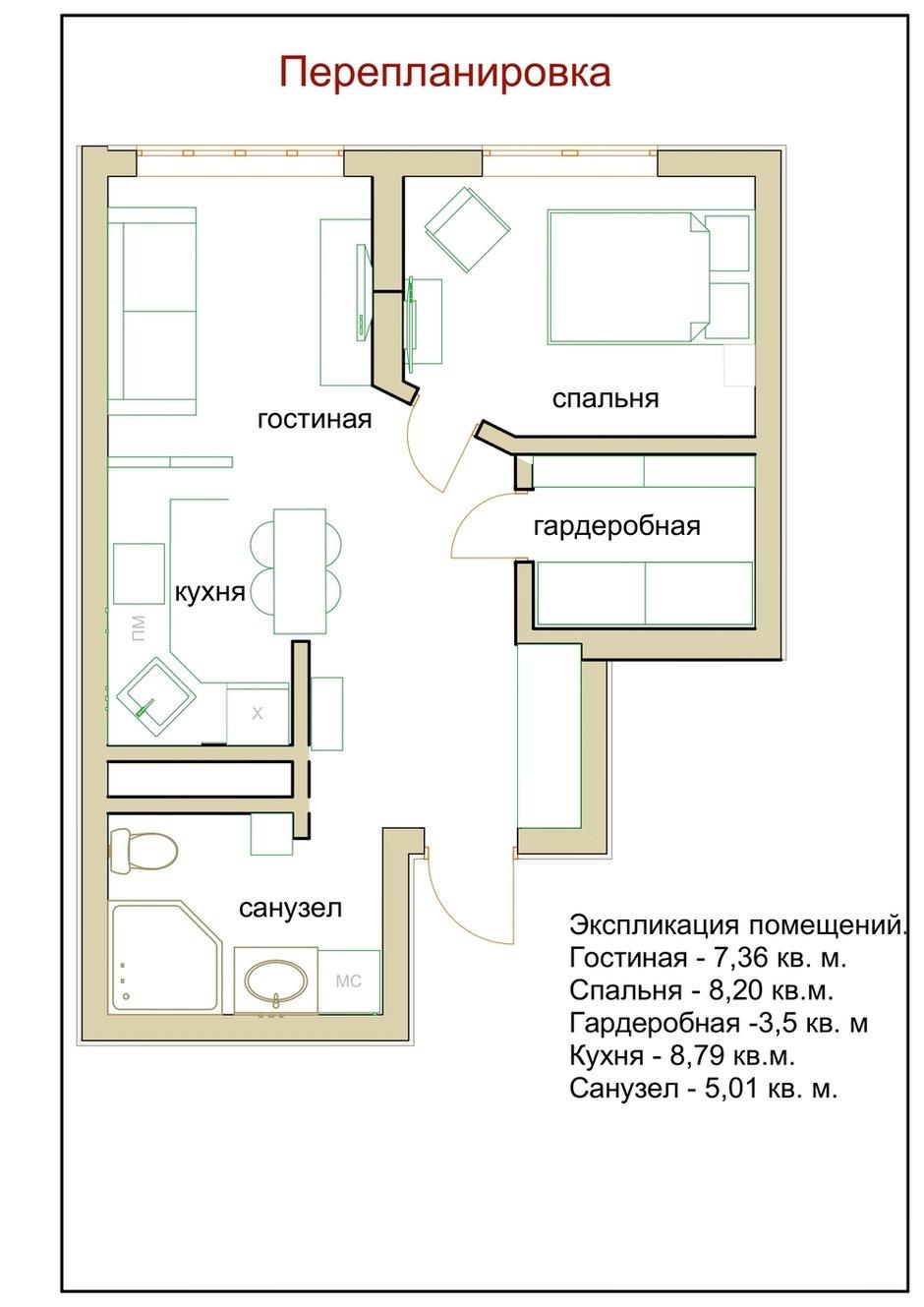 Фотография: Планировки в стиле , Современный, Малогабаритная квартира, Квартира, Проект недели, Москва, 1 комната, до 40 метров, Ирина Долганова – фото на INMYROOM